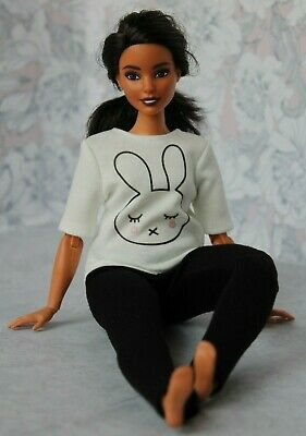T-shirt and Leggings for Dolls. №010 Clothes for Curvy Barbie Doll