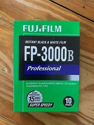 FUJI FP-3000b Sealed Cold Stored B&W Film instant .Polaroid exp 2015.