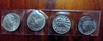 Four Israel Government Coins & Medals Corporation ~ 1973, 1976, 1977 & 1978