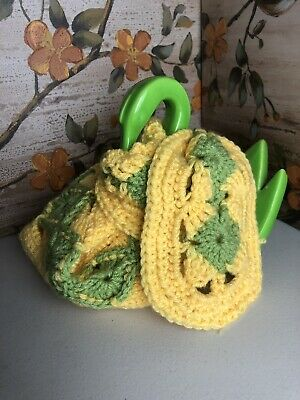 """Hand knit/Crochet Scarf, 86"""" long scarf, Spring Yellow Green Soft One Of A Kind"""