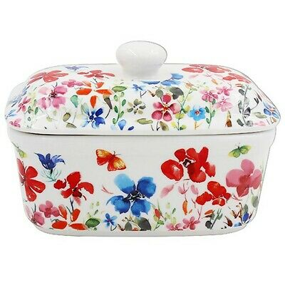 Butterfly Meadow Country Fine China  Butter Dish lp94343