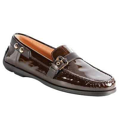 Louis Vuitton Brown Patent Loafers Size 36 Shoes