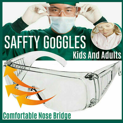 10PCS Clear Safety Goggles Glasses Anti Fog Work Lab Protective Chemical Splash