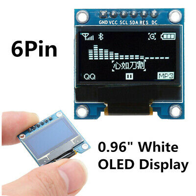 """0.96"""" Inch 6Pin White OLED LCD Screen Display SPI SSD1306 IIC Module For Arduino"""