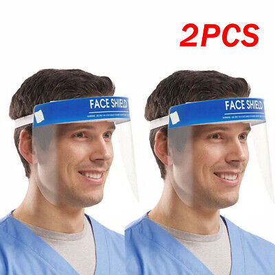 2X Protective Full Face Safety Isolation Visor Eye Face Protector Shield