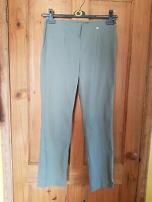 Ladies Khaki Stretch Pants Trousers From Robell Size 10/12 30in Waist New.