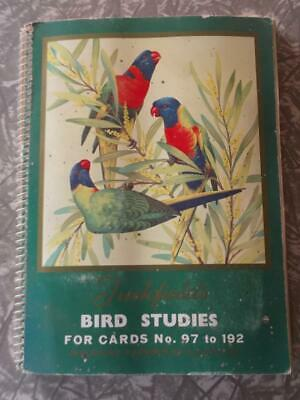 Collectable Old 'Tuckfields Bird Studies Australia' Swap Card Album And Cards