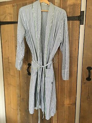 PAUL SMITH Signature Stripe classic Mens striped dressing gown robe SMALL