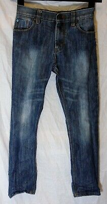 Boys Next Dark Blue Whiskered Vintage Look Denim Regular Fit Jeans Age 9 Years
