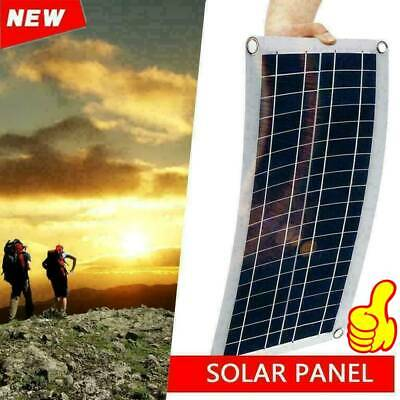 30W 12V Dual USB Flexible Solar Panel Battery Charger Controller Car Kit no Y8V3