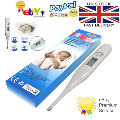 Digital Lcd Thermometer Medical Baby Adult Safe Body Mouth Temperature 6 99 Picclick Uk