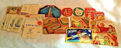 Lot of 20 Vintage Antique advertising Sewing Needle Books A&P, Piggly Wiggly ++