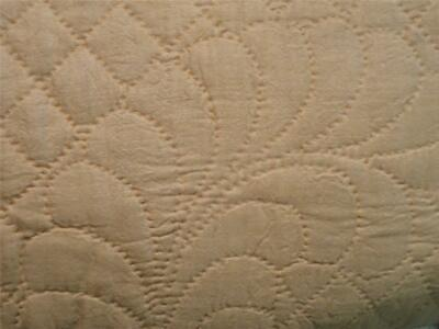 *Antique Hand Quilted Bedspread / Coverlet for Poster Bed - Silk, Amazing Work