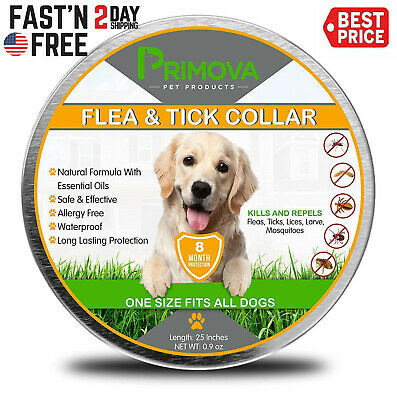 Dewel Cheaper than Seresto! Flea Tick Collar for Large Dog 8 Month Protection US