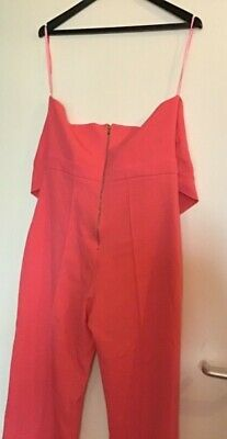 Rare London  jumpsuit new with tags  coral