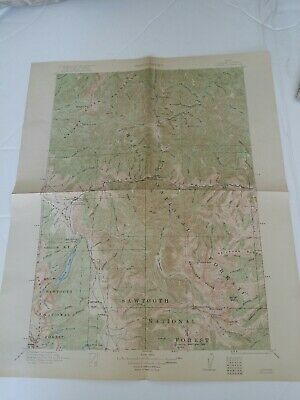 Lot 21 Idaho Topographic Dept Of The Interior Vintage Maps