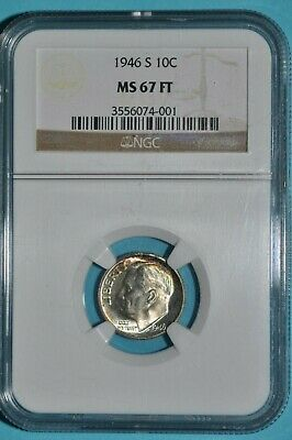 Roosevelt Dime 1946 S NGC MS67FT