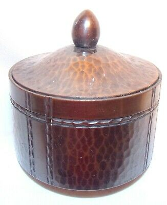 Arts And Crafts Mission Era Roycroft Hand Hammered Copper  Ink Well