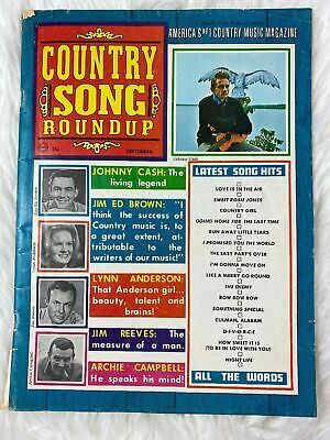 Vintage Country Song Roundup Magazine March 1968 Johnny Cash Jim Reeves