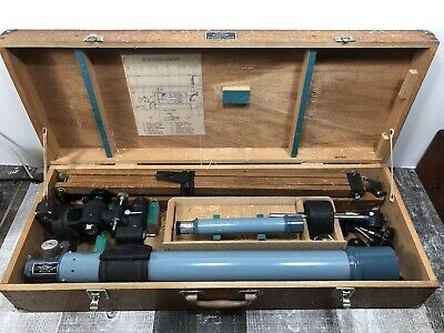 Vintage Scope No 2265 Astronomical Telescope D=60mm, F=800mm In Wooden Box Japan