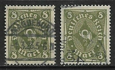 GERMANY 1922 Posthorn 8m Rotary SG 210a Used (CV £43)