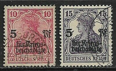 GERMANY 1919 War Wounded Fund SG 105-106 Used (CV £13)