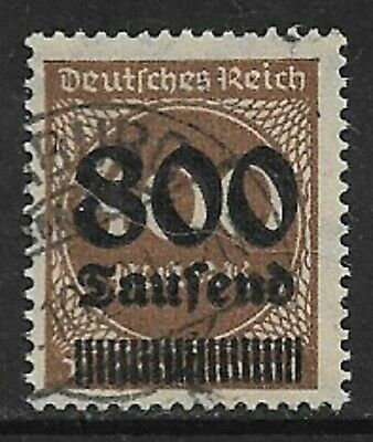 GERMANY 1923 800T on 400m Inflation SG 299 Used (CV £19)