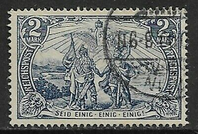 GERMANY 1900 Reichpost 2m Blue SG 63 Used (CV £12)