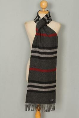 BURBERRY Scarf Grey Check Cashmere Authentic