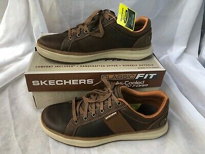 sequía calentar exposición  NEW MENS SKECHERS Moreno Winsor Dark Brown LEATHER Oxford Shoes ...