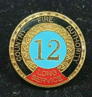 Vintage Country Fire Authority 12 Year Long Service Badge Pin 2