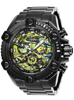 Invicta Reserve Grand Octane 27079 Black Abalone Swiss Chronograph Watch RARE