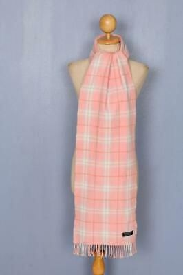BURBERRY Scarf Pink Check Lambswool Authentic