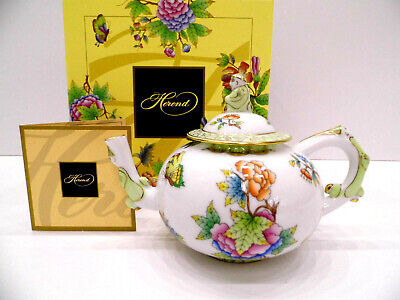 Herend Queen Victoria Miniature Teapot,Mandarin Lid End,Extreme Rare,Brand New