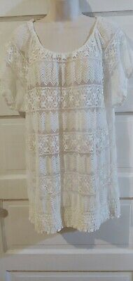 Madison Ivory Lace Top 1X