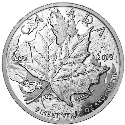 2013 Canada 25th Anniversary of the Silver Maple Leaf - High Relief Piedfort
