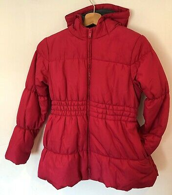 Girls Coat Age 9-10 Bright Pink George Hooded <SW5914