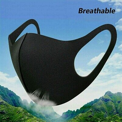 Reusable Washable face masks for Mouth Nose fits all  Black stretchable Mask