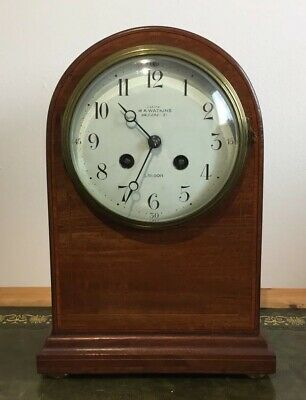 Antique Edwardian Mahogany Chiming Mantle Clock W.A Watkins London