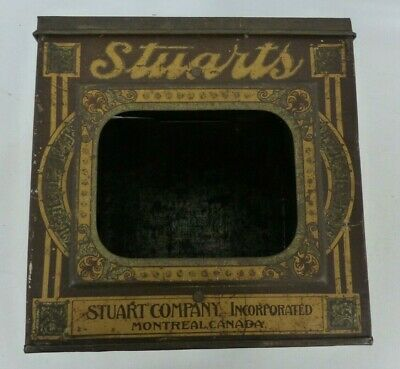 Antique Montreal Stuarts Biscuits Tin Can