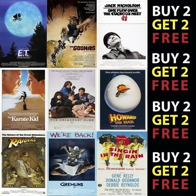 Classic Movie Film Posters Poster Prints A4 A3 Prints On A Metal Plaque