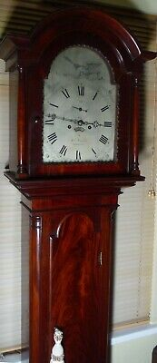 "Antique Mahogany Eight Day "" Launceston "" Longcase / Grandfather Clock"
