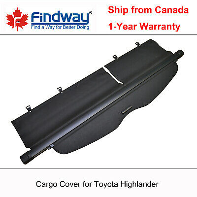 Black Cargo Cover Anti-Theft Shield For 2008-2011, 2012, 2013 Toyota Highlander