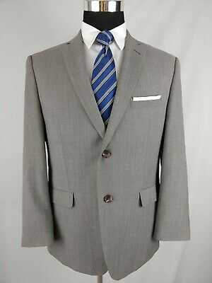 Joseph Abboud Men's Gray Screen Nailshead Wool Two Button 2pc Suit 42S 36x27