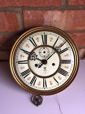 Antique Gustav Becker Dual Weight Vienna Wall Clock Movement Spares Or Repairs