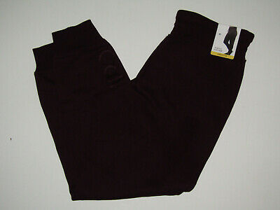 CALVIN KLEIN Womens Pants Burgundy Lounge Jogger Sweat Ankle NWT S Small $49