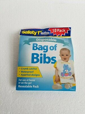 Safety 1st Disposable Baby Bibs, Set of 10 Use At Home Or On The Go