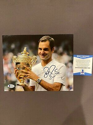 BECKETT COA! ROGER FEDERER Signed Autographed 8x10 Photo Tennis Wimbledon