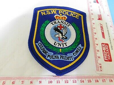NSW  Police Transit Unit Patch Hard/2/get