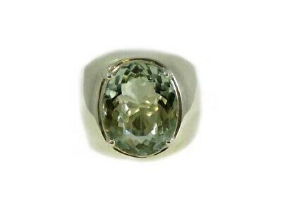 Green Amethyst Ring 12ct Antique 19thC Poland - Ancient Celt Rome Greek Warrior